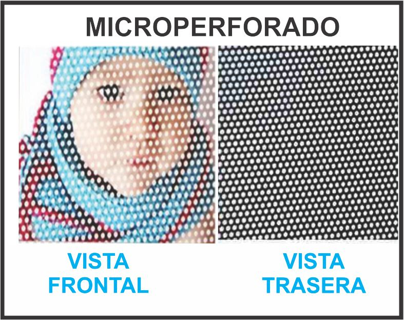 Vinil microperforado Impreso