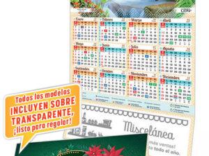 Calendario LEN de Cartulina Tarjeta y Calendario Serie T