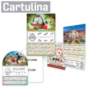 Calendarios de Cartulina